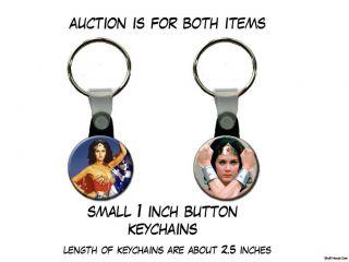 WONDER WOMAN Lynda Carter set of 2 Key Chains