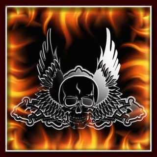 SKULL 116 airbrush stencil template motorcycle chopper paint