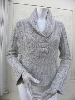 MAGASCHONI GORGEOUS CABLE & RIBBED MULTI PLY CASHMERE SWEATER