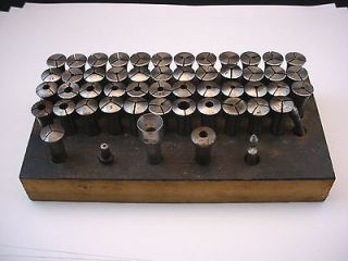 Vintage 55 piece 8mm watchmakers jewelers lathe collet set Moseley G