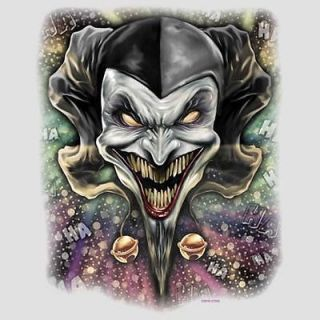 Cool Tshirt Wicked Jester Evil Clown Laugh Dark Joker Dark Gothic