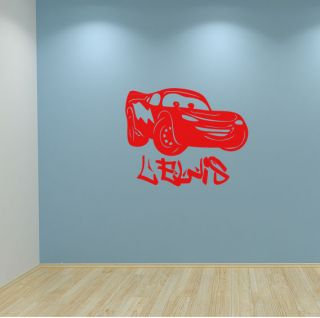 LIGHTNING MCQUEEN CARS WALL STICKER PERSONALISED NAME BOYS BEDROOM