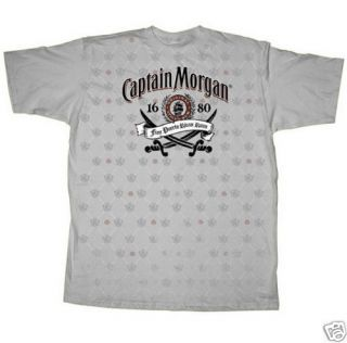 CAPTAIN MORGAN ~ MORGANSVILLE SILVER T SHIRT MEDIUM