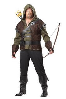 Adult Mens Robin Hood Big & Tall Halloween Costume