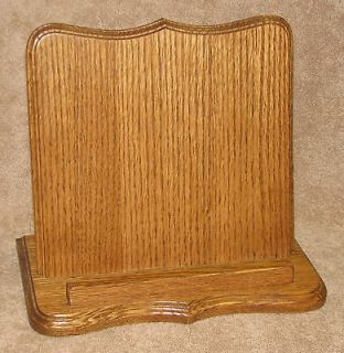 Beautiful Oak Solid Wood Bible, Book, Cookbook Stand Holder 12 Wide x