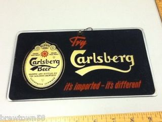 MJ9 CARLSBERG BEER SIGN BAR SIGNS 1 REVERSE GLASS OLD VINTAGE DENMARK