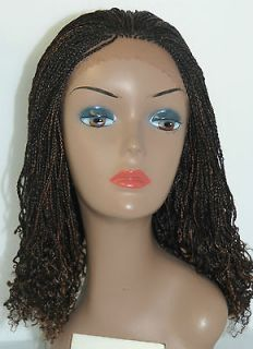 Fully Hand Braided Lace Front Wig Celina  Color 1B/30