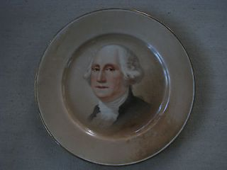 Greenwood China Collectible Plate GEORGE WASHINGTON 8 Gold Trimmed