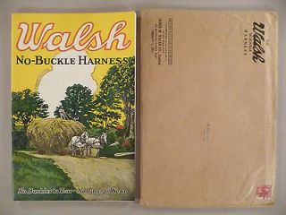 No Buckle Harness CATALOG   1927    high grade with original mailer