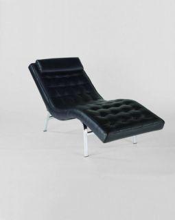 CARMELITA SOLO Chaise Lounge Chair Black or White