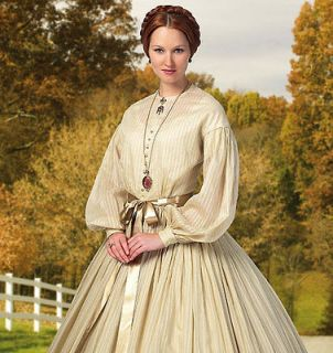 BUTTERICK SEWING PATTERN 5831 MISSES CIVIL WAR ERA LAWN GOWN DAY DRESS