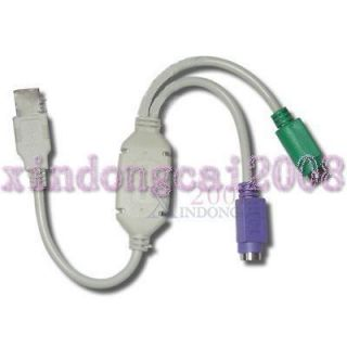 Brand High Quality USB to PS2 Cable Adapter for Keyboard Mouse USB Bus