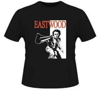 Clint Eastwood Western Movie Legend Retro Black T Shirt