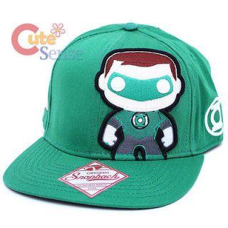 Funko Green Lantern Pop Heroes Snapback Flat Bill Cap Baby Green