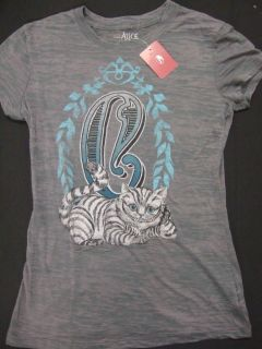 NWT ALICE IN WONDERLAND CHESHIRE CAT BURNOUT T SHIRT Sm