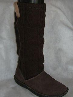 Keen Auburn Boots 7 (NIB) BROWN / SUEDE KNIT Euro 37 38