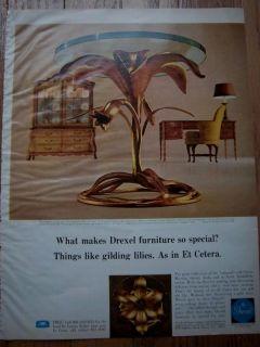 1969 DREXEL Et Cetera Furniture Lk Gilding Lilies Ad