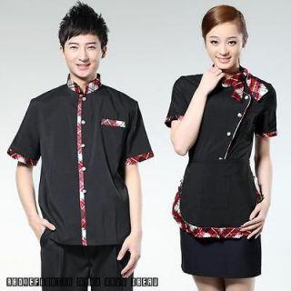 Server uniforms work clothing Chinese waiter hotel restaurant tops
