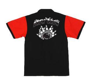 BREW CREW RED/Black rero bowling shir DRINK & BOWL Dars