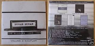 Duran Duran The Single 1986 1995 Sampler 8 Track Promo Only CD Sealed