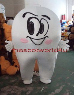 NEW Professional Tooth Cartoon Suit Mascot Costume Fancy Dress Adult