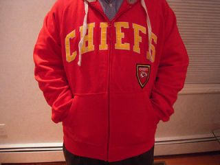 NWT Mens Big & Tall Kansas City Chiefs Full Zip Hooded Sweatshirt