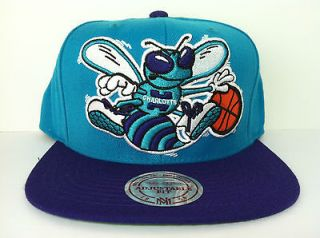 MITCHELL AND NESS NBA CHARLOTTE HORNETS TEAL BIG LOGO SNAPBACK CAP