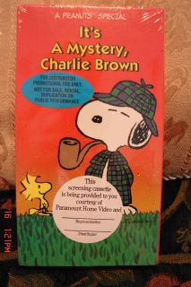 Its A Mystery, Charlie Brown Peanuts Screening VHS NEW SEALED FREE US