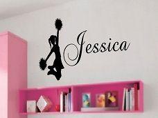 Cheerleader / Personalized / Vinyl Wall Art / Decal