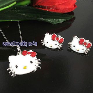 hello kitty chain earring