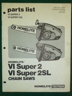 homelite super vi 2 chainsaw
