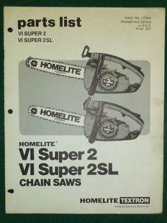 homelite super vi 2 chainsaw