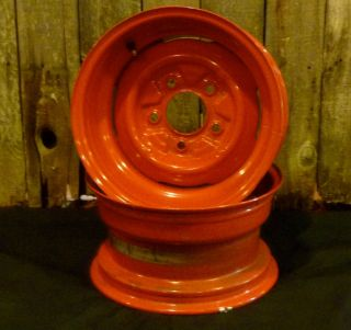 FORD GENNIE STEELIES STEEL WHEELS 15x8 PAIR HOT RAT STREET ROD 1932