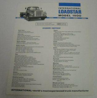 International Harvester IH 1967 1800 Truck Brochure