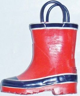 NEW Boys Toddlers SPLASHERS Red/Navy Rubber Snow Rain Boots