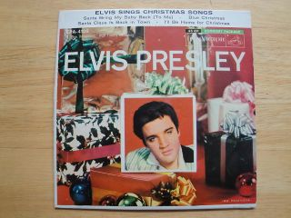 Elvis Presley Sings Christmas Songs 7 45 rpm Record