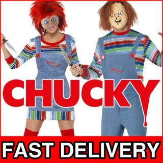 Chucky Doll Mens & Ladies Halloween Childs Play Fancy Dress Costume
