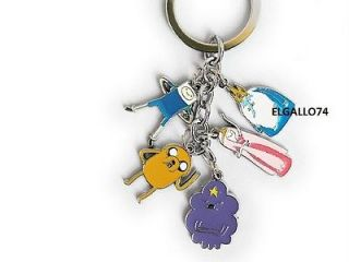 ADVENTURE TIME FINN AND JAKE METAL RING KEYCHAIN TOY ACTION FIGURE SET