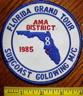 GRAND TOUR AMA DISTRICT 8 SUNCOAST GOLDWING MC MOTORCYCLE Patch 1985