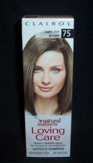 Clairol Loving Care LIGHT ASH BROWN 75 NIB