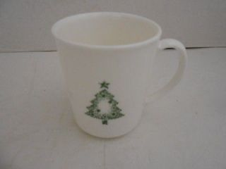 CORNING CORELLE WHITE HOLIDAY DINNERWARE CHRISTMAS TREE PATTERN COFFEE