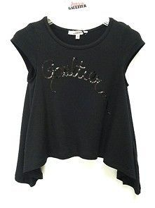 John Paul Gaultier Junior Girls Sale Girls Black Tunic Top with