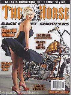 THE HORSE BACKSTREET CHOPPERS MAGAZINE Chop off winner Fab Kevin