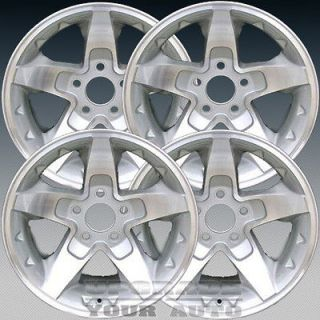 2001 2004 Chevy S10 16x8 Factory Replacement Silver Machined Wheel Set