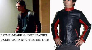 Dark Knight motorcycle leather jacket  Christian Bale