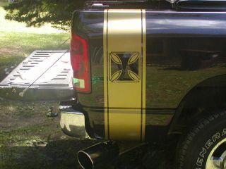 Truck Rear Bed Stripes Stripe Graphics Ram 2500 3500 FIT ALL YR Chevy