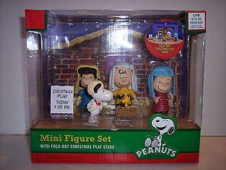 Peanuts Snoopy Charlie Brown Christmas Play Nativity Set 6 pc NIB