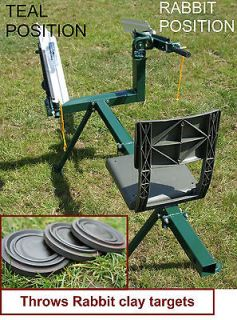 Newly listed DOUBLE ARM SEATED CLAY PIGEON TRAP, CLAY TARGET THROWER