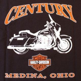 Harley Davidson T Shirt Black Medium Century Medina OH