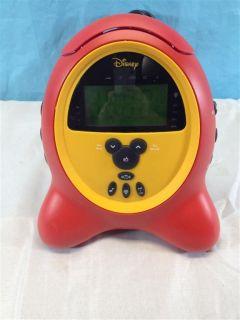 Disney Mickey Mouse Digital Alarm Clock AM/FM Radio RedYellow